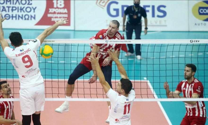 Ολυμπιακός-Μλάντοστ 3-0 σετ