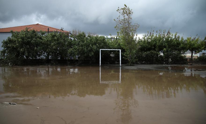 Εύβοια: Φούσκωσε ποτάμι στα Νέα Στύρα, πλημμύρισαν σπίτια